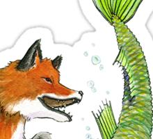 River Fox Sticker