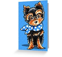 Baby Blue Yorkie Greeting Card