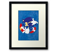 Blue Blur Framed Print