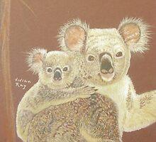 Koalas - Mama Bear & Baby Bear by VivianRay