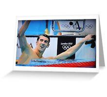 MICHAEL PHELPS IS RETURNING Greeting Card