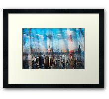 Willows and Stacks in the City Framed Print