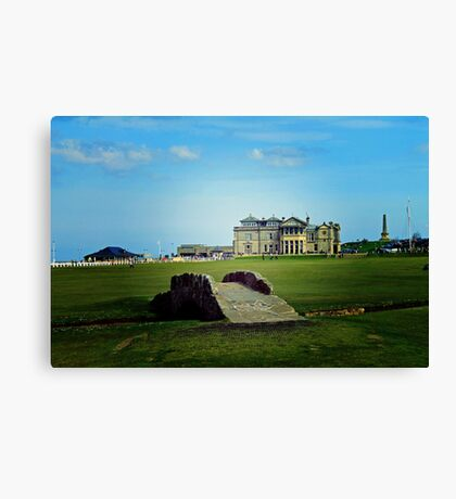 The Swilcan Bridge, Old Course, St Andrews, Scotland Canvas Print