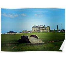 The Swilcan Bridge, Old Course, St Andrews, Scotland Poster