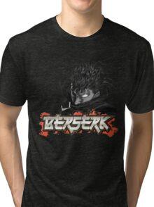 Berserk - Guts Glowing Eye Large w/o Brand Tri-blend T-Shirt