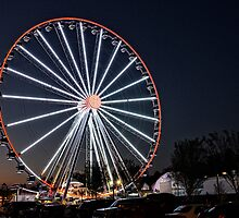 The Smoky Mountain Wheel ... At Night by LarryB007