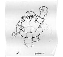 Bear swims Poster