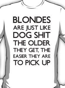 Funny Blonde Joke T Shirt T-Shirt
