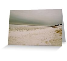 Beach covered snow 2 Greeting Card