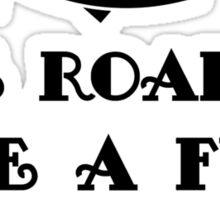 The road to give a f**k T Shirt Sticker