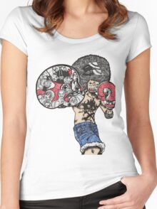 One Piece doodle without background Women's Fitted Scoop T-Shirt
