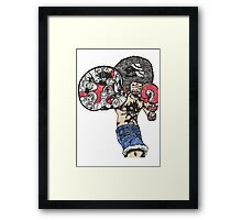 One Piece doodle without background Framed Print
