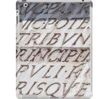 Graphic carved serif type iPad Case/Skin