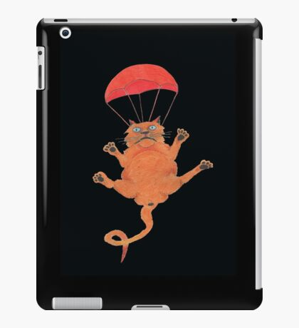 Parachute Cat from Random Acts of Catness iPad Case/Skin