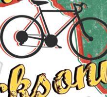 Bike Cycling Bicycle Cruising Jacksonville Florida Sticker
