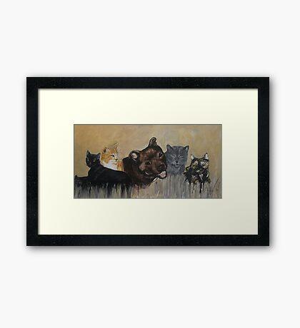 Furry Family Framed Print