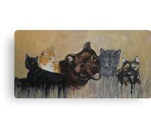 Furry Family Canvas Print