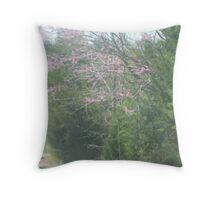 Single Purple-Leaved Tree Throw Pillow