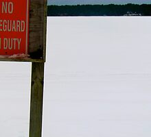 No lifeguard on duty sign by GleaPhotography