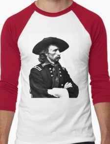 General Custer   The Wighte Collection Men's Baseball ¾ T-Shirt