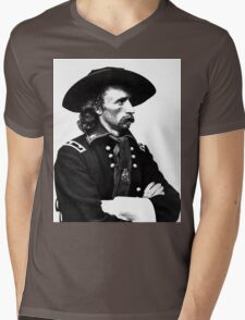 General Custer | The Wighte Collection Mens V-Neck T-Shirt