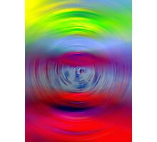 Red Radar Radiance Abstract Photographic Print