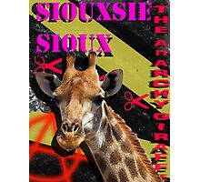 Siouxsie Sioux The ANARCHY Giraffe! Photographic Print