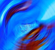 Blue To Blue  Fade Abstract  by Saundra Myles