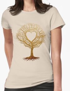 Live Laugh Love Tree of Life Womens Fitted T-Shirt