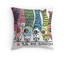 Reunion (Koinobori) Throw Pillow