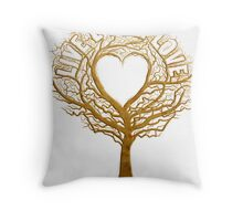 Live Laugh Love Tree of Life Throw Pillow