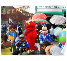 Pokemon,Elmo & Micky Mouse in Coney Island Poster