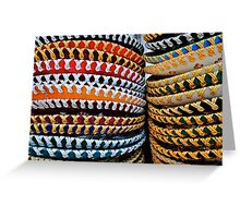 colourful Sombreros Greeting Card