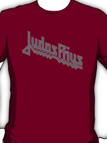 Judas Prius (slate gray / white outline) T-Shirt
