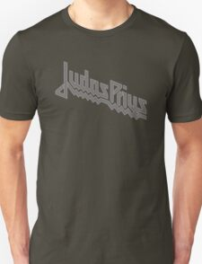 Judas Prius (slate gray / white outline) T-Shirt