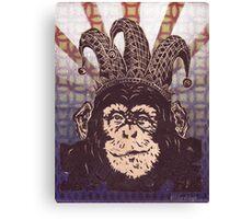 Jester Chimp Canvas Print