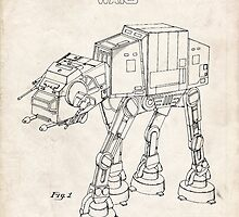 Star Wars AT-AT Imperial Walker US Patent Art by Steve Chambers