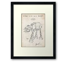 Star Wars AT-AT Imperial Walker US Patent Art Framed Print