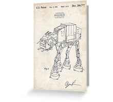 Star Wars AT-AT Imperial Walker US Patent Art Greeting Card