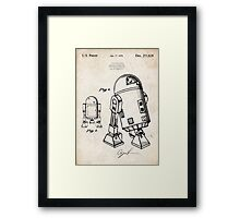 Star Wars R2D2 Droid US Patent Art Framed Print
