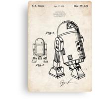 Star Wars R2D2 Droid US Patent Art Canvas Print