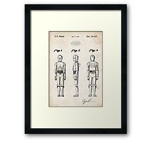 Star Wars C3PO Robot US Patent Art Framed Print