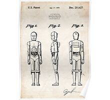 Star Wars C3PO Robot US Patent Art Poster