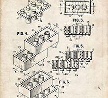 Lego Toy Blocks US Patent Art by Steve Chambers