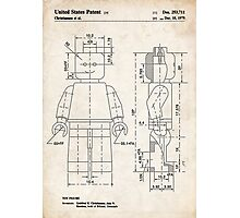 Lego Minifigure US Patent Art Photographic Print