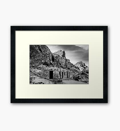 The Cabins  Framed Print