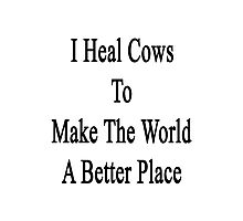 I Heal Cows To Make The World A Better Place  Photographic Print