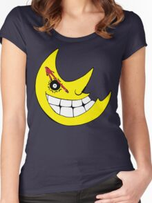 Moon from Soul eater and watchmen logo mashup Women's Fitted Scoop T-Shirt