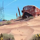 Mojave Metal III by Simon Stålenhag