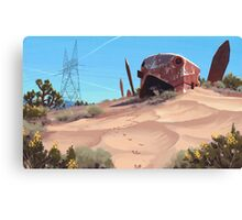 Mojave Metal III Canvas Print